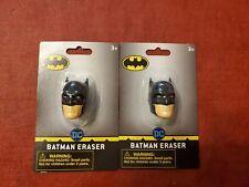 Lot of 2 DC Comics Batman Erasers Back To School Supplies