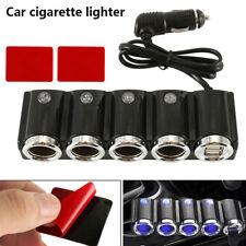 Multi Car Cigarette Socket 4 Way Lighter Splitter Charger Power Adapter Dual USB