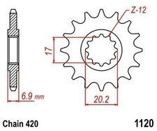 TMP Pignon Sortie Boite Avant 11 Dents Chaîne 420 GENERIC Trigger 50 SM 2007