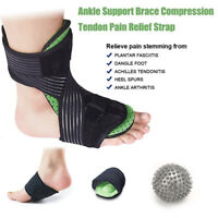 Ankle Support Brace Compression Tendon Relief Pain Strap Foot Sprain Injury