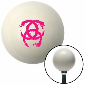 Pink Heraldic Snakes Ivory Shift Knob with 16mm x 1.5 Insert a body chopper gear