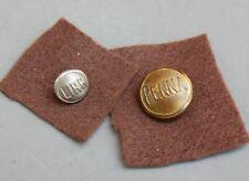 Railroad Uniform Button Lot 2 LIRR Long Island RR & Penna Pennsylvania Gold Tone