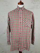 Vintage 90 s Red Green Country Check Indie Cotton Casual Shirt URBAN-S-eh85