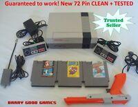 Nintendo NES Original Console System Bundle Game Lot Super Mario 1 2 3 Zapper