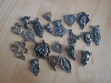 Wholesal lot 20 rosary center bronze tone -religious christian pieces*140528L2