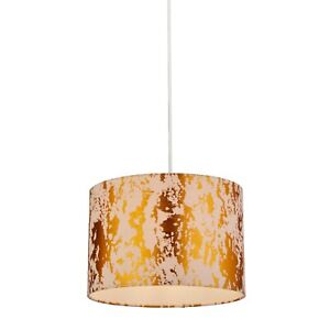 Pink and Gold Foil Effect Easy Fit Pendant Light Shade D30cm H20cm