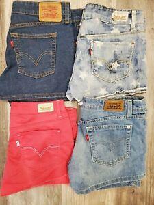 LEVI'S Junior Shorts Sz 9 LOT of 4 *Looks* Brand New!