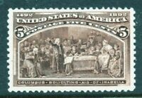 US #234 MNH 1893 Classic 5c 'Columbian Exposition' Stamp [MD1]...Ships Free!