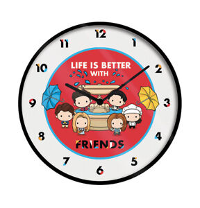 Friends Wall Clock Chibi - Official Licensed Product - FAST UK DISPATCH
