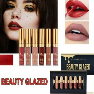 6pcs beauty glazed Everlasting Durable matte liquid lipstick VC