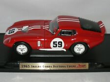 ROAD SIGNATURE 1/18 -1965 SHELBY COBRA DAYTONA  COUPE- EXCELLENT BOXED CONDITION