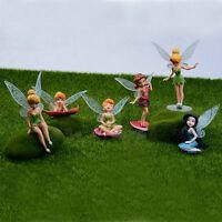 Mini Flower Fairy Angel Landscape Dollhouse Plant Pot Garden Ornament Kids Toy