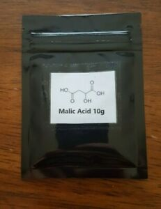 Malic acid 10g 100% pure powder Jolly Ranchers ingredient Cosmetic/Food grade