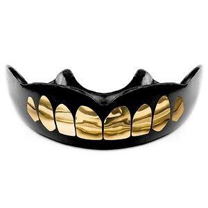 GOLD Teeth Sport Mouthguard, Free Storage Case, youth & adult sizes available