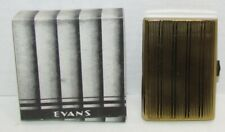Vintages Evans Goldtone Cigarette Case with Original Box