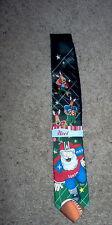 NOEL Holiday Men's Neck Tie CHRISTMAS XMAS FOOTBALL SANTA Reindeer Player Game