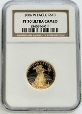 2006 W GOLD $10 PROOF AMERICAN EAGLE 1/4 OZ COIN NGC PF 70 ULTRA CAMEO