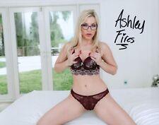 Ashley Fires Hot In Her Glasses Look Adult Model Signed 8x10 Photo COA Proof  36 3206da789
