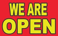 WE ARE OPEN -Banner Sign (  32 in x20 in )