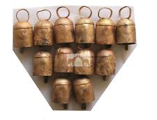 "Handmade Decorative 2.5"" Inches Tin Metal Bells Home Decor Vintage X Mas Lot 12"