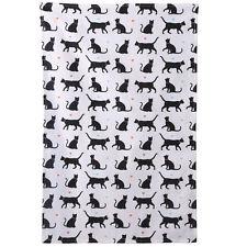 100% algodón me encanta mi gato toalla de té blanco y negro Regalo de Cocina 69cm X 46cm Nuevo