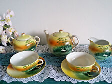 "HAND PAINTED 1940"" S NIPPON PORCELAIN CHINA TEA SET FROM JAPAN"