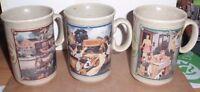 SET OF 3 WATKINS YEAR ALMANAC COFFEE MUGS 1916, 1936, 1955 MADE IN ENGLAND EUC