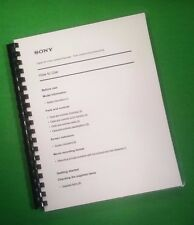 Laser Printed Sony Fdr Ax55/Axp5 Video Camera 224 Page Owners Manual Guide