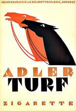 Art Ad Adler Turf Cigarettes Horses Tabacco  Poster Print