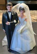 VIntage Wilton Chicago Wedding Cake Topper Bride Groom-black Coat