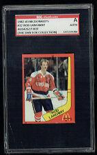 Rod Langway #32 signed autograph auto 1982-83 McDonald's Card SGC Authentic