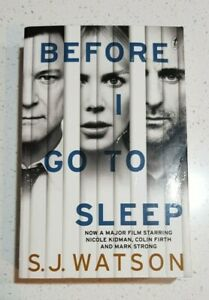 BEFORE I GO TO SLEEP By S.J.WATSON - Movie Cover Edition