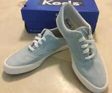 5775cd41d91 KEDS CHAMPION Anchor CHAMBRAY BLUE WOMENS TENNIS SHOES Sz 8 Lace Up Light  Denim