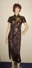 LADIES ORIENTAL CHINESE DRESS GOWN NATIONAL FANCY DRESS COSTUME S UK8 USED