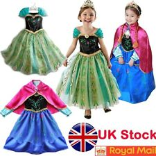 ANNA Dress Queen Cosplay Costume Grils Fancy Dress UK Seller Halloween