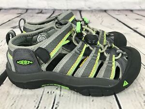 KEEN Newport Gray / Green Waterproof Sport Sandals Shoes KIDS US 13 / EU 31
