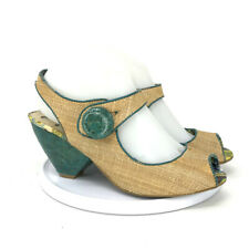 Not Rated Womens Open Toe Brown Green Wedges Sandal Size 7.5