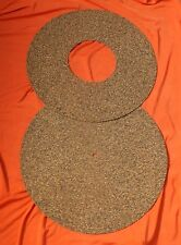 2 Piece  Cork & Nitrile Turntable Mat - Recessed Surface to Improve Sound