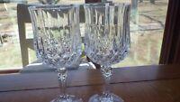 Wine Glasses Longchamp Clear by CRISTAL D'ARQUES-DURAND 2 7 oz elegant stems