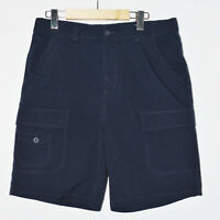 WindRiver Outfitters Men L Shorts Outdoor Navy Blue Cargo Camping 100% Cotton