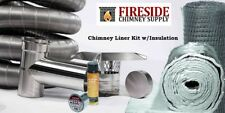 "6""x 15' Flexible Chimney Liner Tee Kit w/ Insulation A+ BBB Rating"
