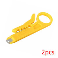 2pcs RJ45 LAN Network Cat5e Cat6 Cable Wire Punch Down Stripper Cutter Tool