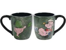 Beetle Bailey and Popeye Army vs Navy 2-Sided 12 oz Ceramic Coffee Mug NEW BOXED