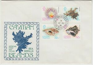 CAYMAN ISLANDS 1980 *SEA SHELLS* set of 4 on official illustrated FDC