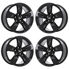 "20"" JEEP GRAND CHEROKEE SRT BLACK WHEELS RIMS FACTORY OEM SET 4 9139"