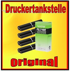 Original Brother PC-74 Thermotransfer Rollers 4er Pack Fax V1 T 102 104 106 7