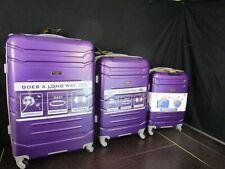 Olympia Denmark 3 Piece Luggage Set Purple