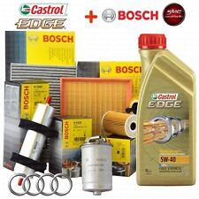 Kit tagliando olio CASTROL EDGE 5W40 5LT 4 FILTRI BOSCH AUDI A4 1.9 TDI B6 96 KW