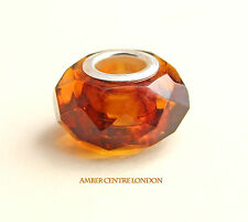 Amber Trolls Baltic Amber & 925 Silver Faceted Charm  -CHA78 RRP£40!!!