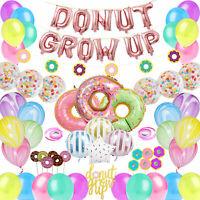 60 Pcs Donut Grow Up Party Decoration Kit Set Doughnut Birthday Party Supply